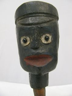 Antique Folk Art Carved Black Americana