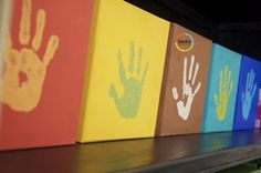I'm dying to make a handprint collection for each of my kids like Becky Higgins does!
