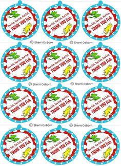 Dr Seuss Printable Thank You Tags