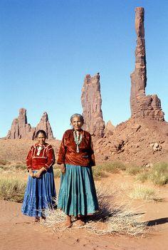 Navajo Women posing