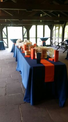 Cocktail hour on the porch at Happy Days Lodge with delicious popcorn and trail mix bar!