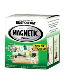 Use to magnetize dry erase and chalkboard walls.