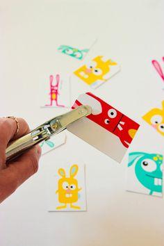 Imprimible de etiquetas Happy Easter y conejitos >> Printable Easter Gift Tags #Easter #Semanasanta