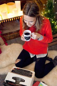 christmas day outfit, sweaters, fashion, fallwint style, cloth, holiday outfits, christmas outfits, red gap, gap sweater