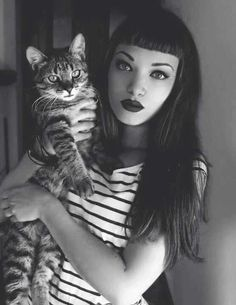short, cats, style, makeup, bangs, beauti, fringes, kitty, hair