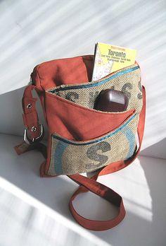 swiss burlap bag - FREE scarf. $149.00, via Etsy.