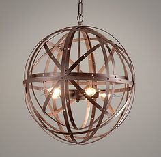 Orbital Sphere Small Pendant Rust $199