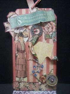 Tag made with Graphic 45 A Ladies Diary