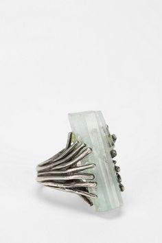 Aquamarine Talon Ring, handmade in Philadelphia by Sarah Lewis #urbanoutfitters