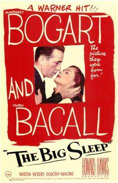 The Big Sleep-Humphrey Bogart, Lauren Bacall and John Ridgely1946