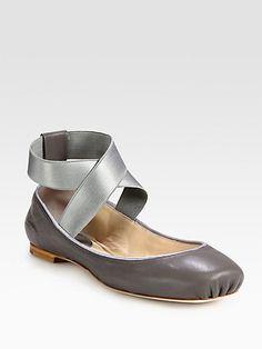 Chloé - Leather Ballet Flats - Saks.com (in pink)