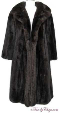 Vintage Ranch Mink Coat #RM691;   SOLD!; Excellent Condition; Size range: 6 - 10 Petite. This is a gorgeous vintage genuine natural ranch mink fur coat. The details on this lovely fur coat make it evident that this is a high quality fur. There are no closures, although they could be added very easily and inexpensively by a seamstress or furrier, if so desired. Isn't it time you treated yourself to that ranch mink you've always dreamed of? This stunning fur coat will make that dream come true! fur coat, vintag fur, fur fashion, mink coat