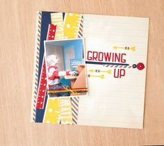 Growing Up Scrapbook Layout. Make It Now in Cricut Design Space