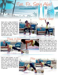3 Moves for Flat, Fit, SEXY Abs!