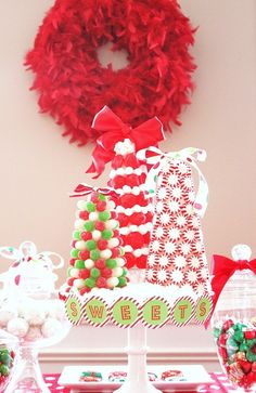 Candy trees … look pretty easy! From Celebrations at Home. #DIY #crafts #Christmas #kids