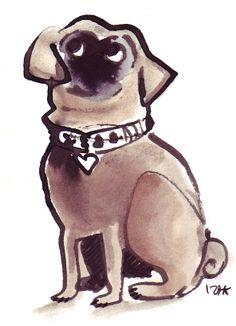 #izakzenou #izak #illustration #dogs #trafficnyc