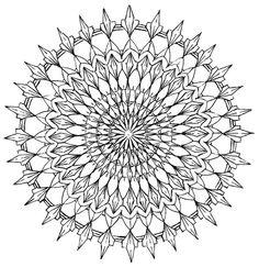 Mandala 577, Creative Haven Kaleidescope Designs Coloring Book, Dover Publications