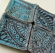 Ceramic Plates Set of 4 Decorative Porcelain Plates - Image 3