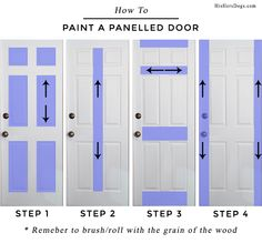 How to Paint a Panel Door