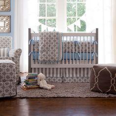 Gray Geometric Crib Bedding   Baby Boy Crib Bedding in Gray   Carousel Designs