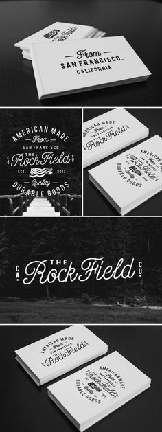 The Rock Field Co. by Jorgen Grotdal, via Behance