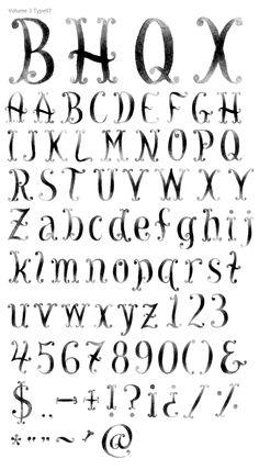 Volume 3 Type07 letter, font, hand type, awesom alphabet, typographi, hand drawnpaint, drawnpaint type