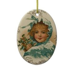 Victorian Christmas Ornament  Make your Christmas special with these Vintage Christmas ornaments. Keepsake ornaments with Victorian designs fully restored for best printing quality. Easy to customize with name and date.