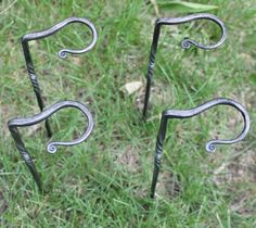 wine glass stake | Handforged Wine Glass Stakes.. | Blacksmithing Projects