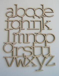 Wood Alphabet by bookhouathome #Alphabet #bookhouathome