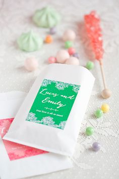 Wedding Candy Bar + Free Printable Sign from My Own Ideas blog