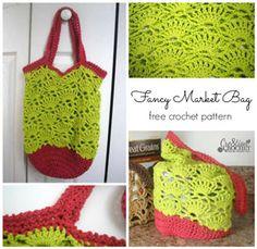 Free Market Tote Crochet Patterns! Get them all at Mooglyblog.com #crochet