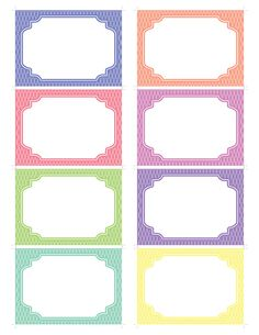 Printable  Labels and Tags Ovals and Stripes   - PSL-001. $4.00, via Etsy.