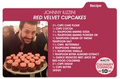 Recipe for love: Chef Johnny Iuzzini's Red Velvet cupcakes