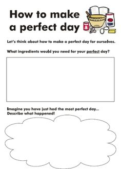 The perfect day worksheet