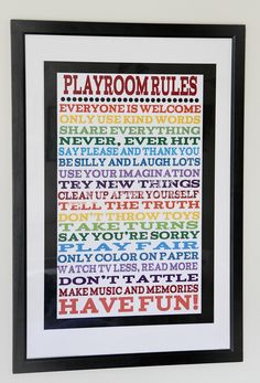 16x20 Playroom OR House Rules Poster at VeryJane.com