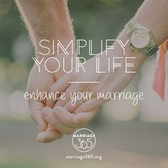 When you simplify your life, you will have more time to communicate. Marriage365 seeks to inspire, enrich and challenge couples in the adventure of marriage. Check out our FB, IG and website for more information. #marriage365 www.marriage365.org