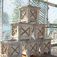 Planter Boxes::Created from recycled barn lumber and tobacco sticks to reflect Kentu… :: Hometalk