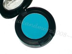 MAC Eyeshadow~ JEWEL BLUE ~Bright Turquoise VeluxeMatte look if the day @nichole