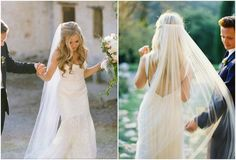 I would like to go with the half up & half down with the veil and tousled curls (big waves)