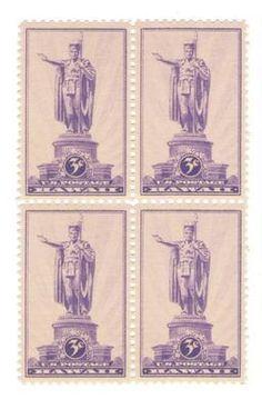 Kamehameha I – First King of Hawaii 75 yr Old Mint Vintage Stamps from 1937 | eBay