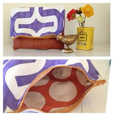 via www.thesweetescape.ca Lined leather & fabric clutch. Part 1 of my #tonicliving fabric creation from #blogpodium #tonicfabricfun