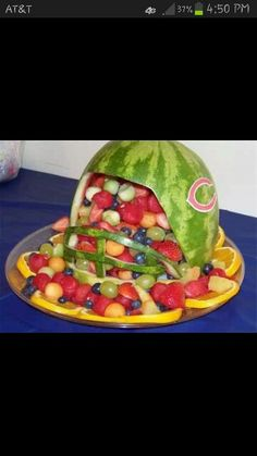 Awesome fruit platter idea