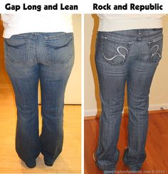 Jeans. . . I've inadvertently been wearing mom jeans all this time? Blog post for side by sides of tons of jean styles.