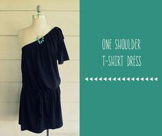One Shoulder T-Shirt Dress