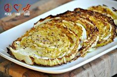 Oven Roasted Cabbage Wedges