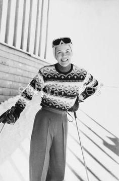 vintage ski fashion
