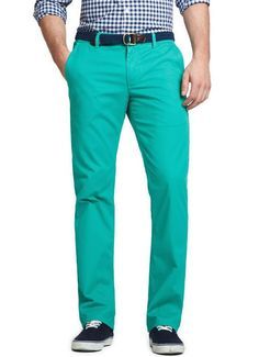 'Green & Tonics' Bonobos Straight Leg Chinos (fun colour, looks great with navy)