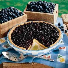 Blueberry Cream Pie - for July 4th!!