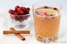 Hot apple cider with butterscotch syrup