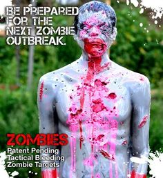LifeSize Bleeding Zombie Tactical Target by TacticalTextile, $76.95